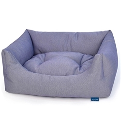 Project Blu Bengal Domino Bed Bluewith Pattern Large 85cmx70cmx20cm
