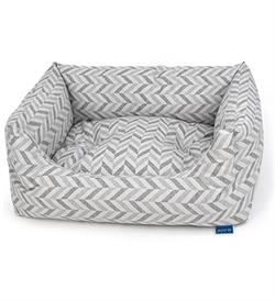 Project Blu Goa Domino Bed Grey Chevron Large 85cmx70cmx20cm