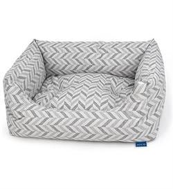 Project Blu Goa Domino Bed Grey Chevron Extra Large 110cmx85cmx20cm