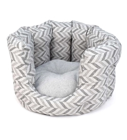 Project Blu Goa Regular Cat Bed Grey Chevron 55x55cm