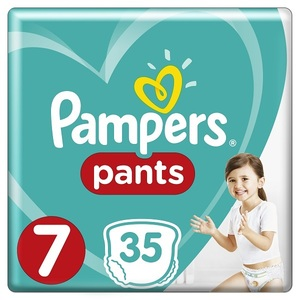 Pampers Pants Diapers Size 7 17+Kg Jumbo Pack 35 pcs
