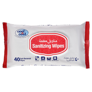Cool & Cool Sanitizing Wipes 40s