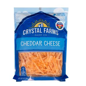 Crystal Farms Shredded Cheddar Cheese 227g