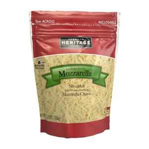 American Heritage Shredded Low Moisture Part Skim Mozzarella 200g