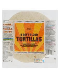 8 Soft Flour Tortillas 464g