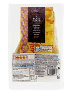 2 Large Naan Breads 220g