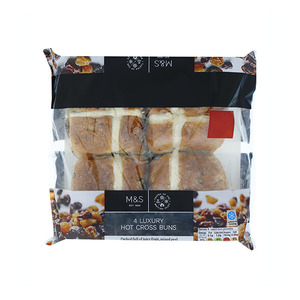 4 Luxury Hot Cross Buns 310g