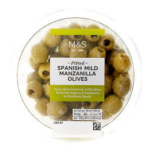 Pitted Spanish Mild Manzanilla Olives 160g