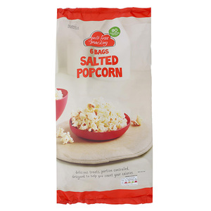 6 Bags Salted Popcorn 90g