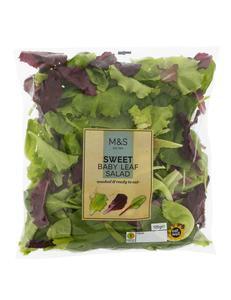 Sweet Baby Leaf Salad Bag 120g