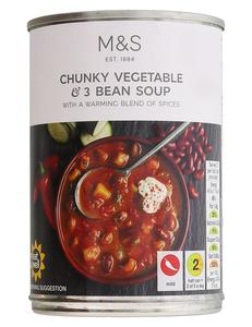 Chunky Vegetable & Three Bean Soup 400g