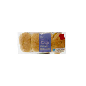 8 Mini White Submarine Rolls 165g