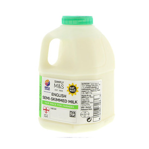 British Semi Skimmed Milk 1 Pint 568ml