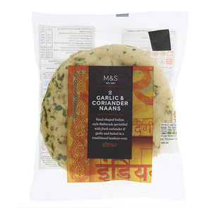 2 Garlic & Coriander Naans 150g