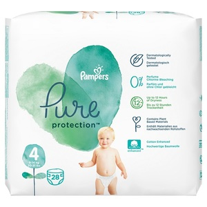 Pampers Pure Protection Diapers Size 4 9-14Kg Dual Pack 28 pcs