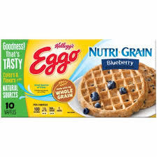 Eggo Waffle Nutrigrain Blueberry 350g