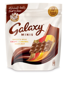 Galaxy Minis Assorted Chocolate Mini Bars Pouch 212.5g