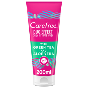 Carefree Daily Intimate Wash Duo Effect With Green Tea & Aloe Vera 200ml