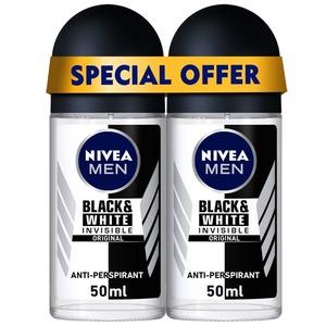 Nivea Deo Roll On Black & White Men 2x50ml