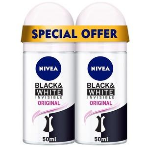 Nivea Deo Roll On Black & White Women 2x50ml
