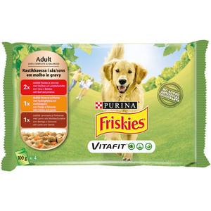 Purina Friskies Dog Food Variety Pack Pouch 4x100g