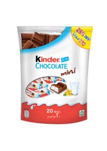 Kinder Chocolate Mini 20x120g @25% Off