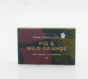 Pana Chocolate Organic Fig & Wild Orange Gluten Free 45g
