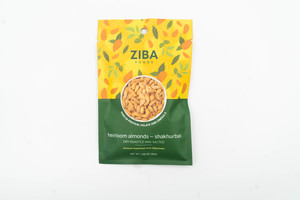 Ziba Dry Roasted & Salted Heirloom Almonds 40g