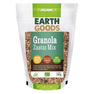 Earth Goods Organic Granola & Zaatar Mix No Added Sugar Gluten Free Gmo Free 340g