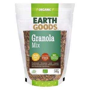 Earth Goods Organic Granola Mix Gluten Free Gmo Free No Added Sugar 340g