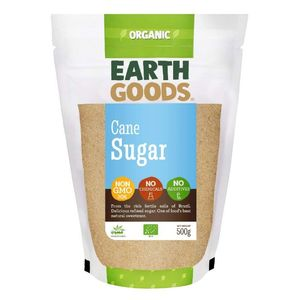 Earth Goods Organic Cane Sugar Chemical Free Additives Free Gmo Free 500g