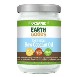 Earth Goods Organic Extra Virgin Raw Coconut Oil Vegan Gluten Free Gmo Free 500ml