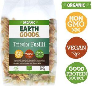 Earth Goods Organic Fusili Tricolor Spirals 500g