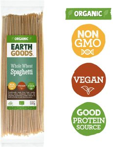 Earth Goods Organic Spaghetti Whole Wheat 500g
