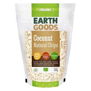 Earth Goods Organic Coconut Natural Chips Vegan Gluten Free Gmo Free 100g