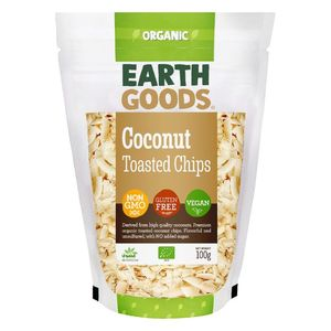 Earth Goods Organic Toasted Coconut Chips Vegan Gluten Free Gmo Free 100g