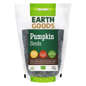 Earth Goods Organic High Protein Pumpkin Seeds Gluten Free Gmo Free 340g