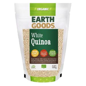 Earth Goods Organic High Protein White Quinoa Gluten Free Gmo Free 500g