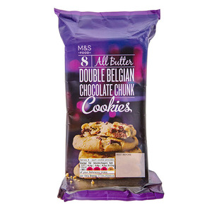 8 All ButterDouble Belgian Chocolate Chunk Cookies 200g