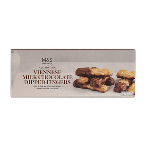 All Butter Viennese Milk Chocolate Dipped Fingers 135g