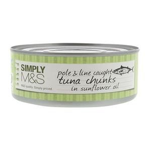 Pole & Line Caught Tuna Chunks In Sunflower Oil 160g