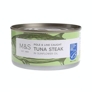 Pole & Line Caught Tuna Steak In Sunflower Oil 200g