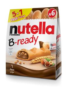 Nutella Ferrero B-Ready Chocolate Pack of 5+1 Free - 132g