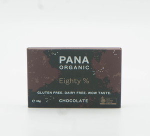 Pana Chocolate Organic Eighty Gluten Free 45g