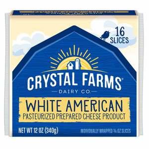 Crystal Farms Singles American White Cheese 12oz
