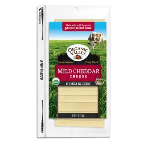 Organic Valley Sliced Mild Cheddar 6oz