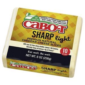 Cabot Slice Stack Sharp Light Cheddar 8oz