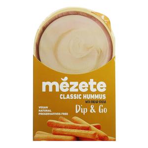 Mezete Hummus Classic With Bread Sticks 1pc