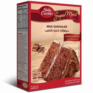 Betty Crocker Supermoist Milk Chocolate Premium Edition Cake Mix 3x510g