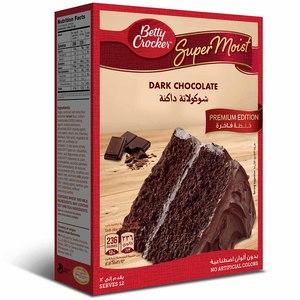 Betty Crocker Supermoist Dark Chocolate Premium Edition Cake Mix 3x510g